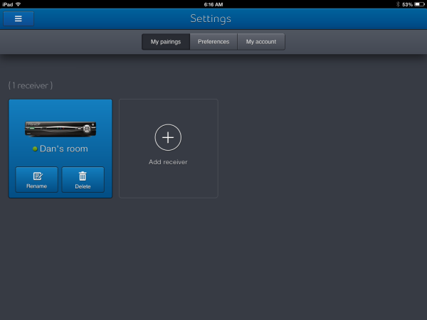 Pair my mobile (Apple Android) device to the TV receivers
